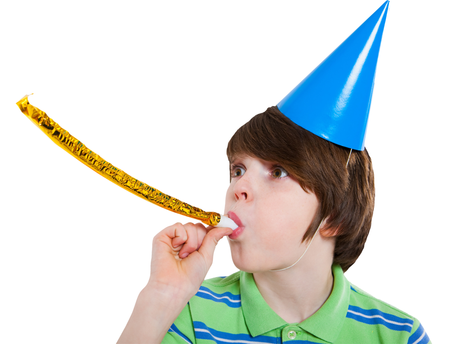 birthday boy in hat